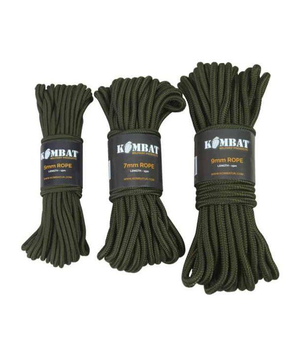 Kombat uk rope 15m (various thickness)