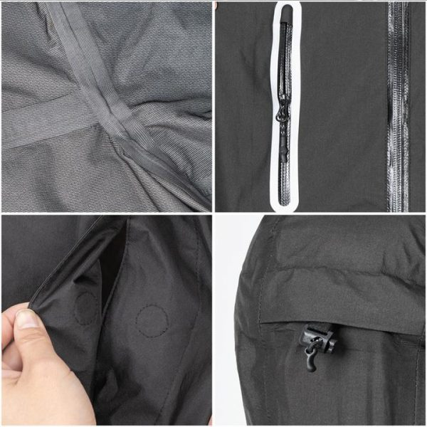 Naturehike hooded waterproof raincoat / poncho - black