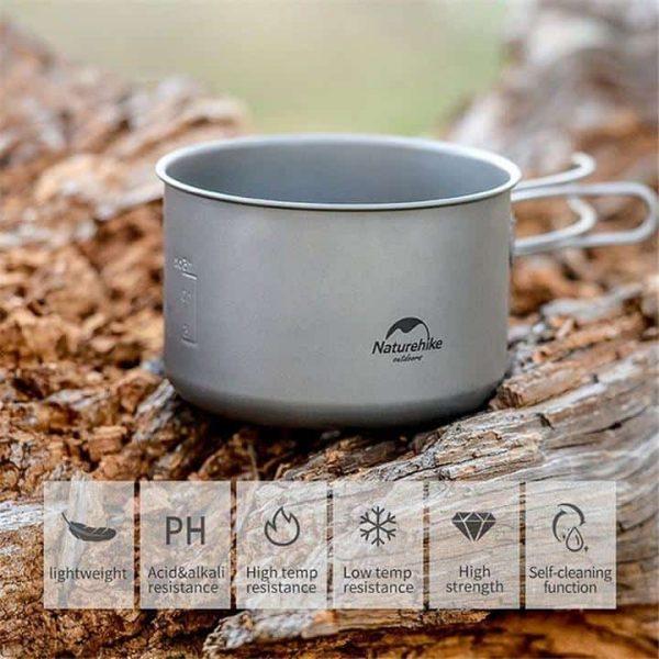Naturehike lightweight titanium cookware