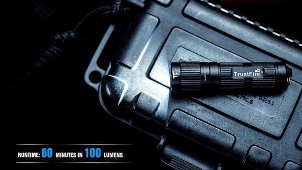 Trustfire mini3 edc flashlight 350 lumens