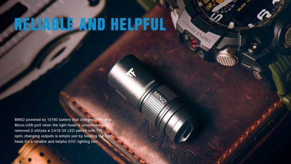 Trustfire mini2 keychain flashlight