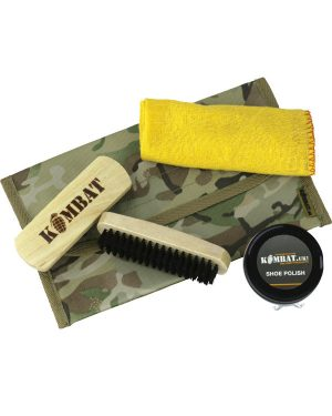 Kombat Military Boot Care Kit (Brown or Black Polish)