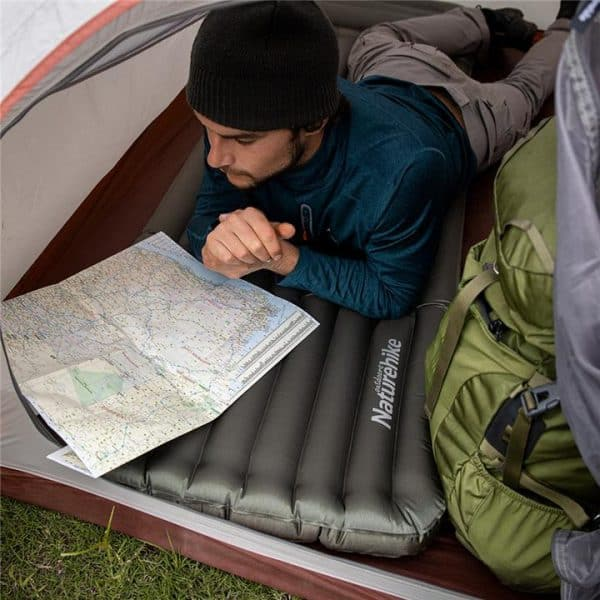 Naturehike thick tpu inflatable sleeping mat with pillow (wide)