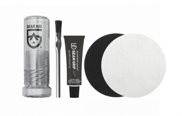 Gear aid seam grip + wp field repair kit 7g tube 1 x clear & 1 x black patch