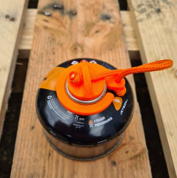 Gas canister cap
